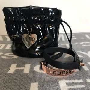 Guess Black With Metal Copper Bracelet